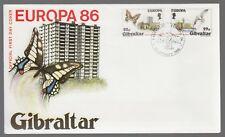 Gibraltar 1986 FDC Europa Nature & Environment - Butterflies Theme