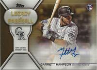 2019 Topps Update GARRETT HAMPSON Legacy of Baseball Auto GOLD 05/50 Rockies RC