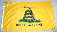 GADSDEN-DOUBLE SIDED- DON'T TREAD ON ME-TEA PARTY FLAG 3x5