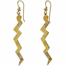 *NEW* ~Laurel Burch SERPENTINE Mustard Snake Earrings~