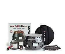 Volcano 3 Portable Propane Charcoal Wood Tabletop Grill Outdoor Stove Fire Pit