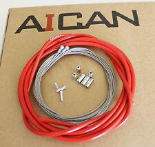 Aican PREMIUM ROAD bike bicycle BRAKE cable housing set kit Jagwire, Red