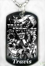 TRANSFORMERS - Dog tag Necklace/key chain + FREE ENGRAVING