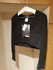 chanel tweed jacket Cropped Embroidered size FR40 new VESTE NOIR - 5990EURO