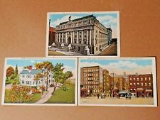 3 Vintage New York City White Border Postcards U.S. Customs House Holland Tunnel