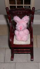 DOLLS' HOUSE 1/12TH SCALE FLUFFY PINK RABBIT