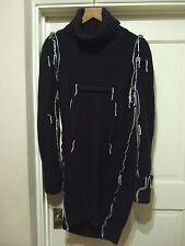 Maison Martin Margiela H&M MMM Navy Oversized Darted Knitted Dress M Uk 12 USA 8