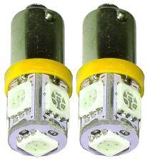 2x ampoule T4W T5W BA9s 12V 5LED SMD jaune éclairage intérieur coffre plaque