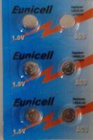 EUNICELL - Lot de 6 PILES SR936SW / AG9 / SR936 / LR936 / 394 / 1,5V ALKALINE