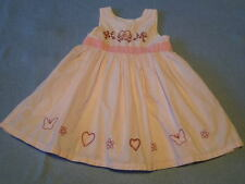 Cute Little Girls Pink Embroidered Dress, Size 3-6 Months - BRAND NEW!