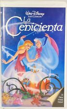 "RARE! Disney Cinderella ""La Cenicienta"" Spanish Version VHS Tape Classics"