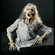 GRAVE BUSTING ZOMBIE GIRL  Animated Haunted House - Halloween Prop - Decoration