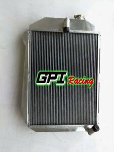 4ROW aluminum radiator for Chevy Hot/Street Rod 6 Cylinder L6 M/T 1939 39