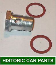 "1 ½"" H4 SU Carb Fuel Inlet Bolt + Fibre Washers for TRIUMPH TR2 1991cc 1953-55"