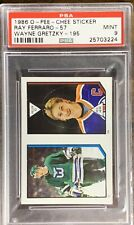 1986 1987 OPC STICKER Wayne Gretzky & Ray Ferraro RC Oilers Kings Isles Psa 9 MT