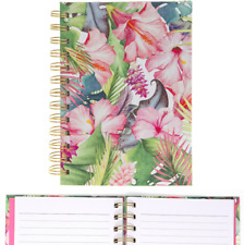 Tropical Paradise Floral Spiral Notebook Lined Notepad Flower Jotter Hardback A6