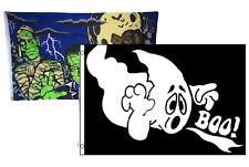 3x5 Happy Halloween 2 Pack Flag Wholesale Set Combo #9 3'x5' Banner Grommets