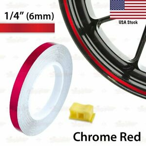 "1/4"" 6mm PIN STRIPE Striping Car Motorcycle WHEEL RIM Decal Vinyl Stickers US"