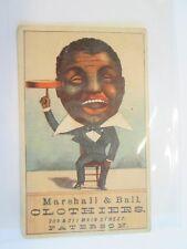 Antique Marshall & Ball Clothier Trading Card Black Americana CA. 1880s