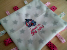 personalized with yr childs  name / birth date  Eeyore   taggie blankets