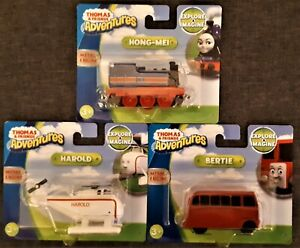 Thomas & Friends Adventures Metal Engine, Tank Engine, Bertie, Harold, Hong-Mei
