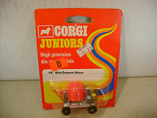 1973 CORGI METTOY JUNIORS #20 SITE CEMENT MIXER RED CARD MOC