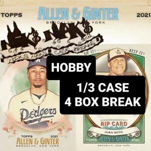 ATLANTA BRAVES 2021 ALLEN & GINTER BASEBALL HOBBY 1/3 CASE 4 BOX BREAK #14