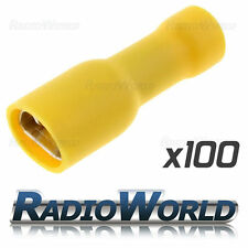 100x Insulated Yellow Female Spade Splice Connector Crimp Electrical Terminals