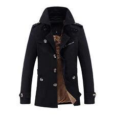 NEUF VESTE HOMME doublé manteau trench d' Hiver Parka très chaud