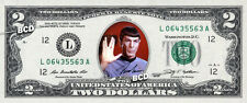 REAL $2 Mr Spock Bill with SIGNATURE - Leonard Nimoy Star Trek Money Dollar