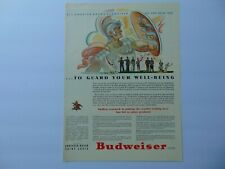 New listing 1942 Budweiser & Many Products From Anheuser-Busch vintage art print ad