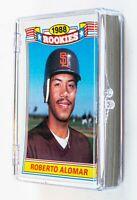 1988 Topps Baseball Rookies Commemorative (22) Card Set, Alomar,Grace,Sheffield
