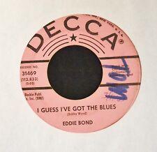 Eddie Bond Decca PROMO 31469 As Long As I'll Forgive