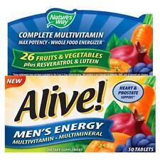 6 Nature's Way Alive Men's Energy Multivitamin 50 Ct Tablets Exp 9/15 De1319