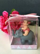 12 Baby Shower Elephant Favors Party Decorations Animals Safari Figurines Jungle