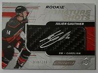 2019-20 UD Engrained Rookie Signature Shots Julien Gauthier Rc Auto #10/249