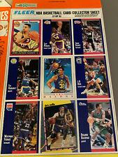 Michael Jordan WHEATIES Cereal Box Fleer Basketball Uncut Sheet 9 Cards Malone