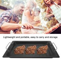 30x25cm Large Non-Stick Barbecue Pan Frying Pot Grill Plate Cookware BBQ Tray US