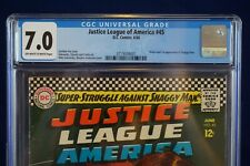 Justice League of America 45 6/66 D.C. Comics CGC Grade 7.0