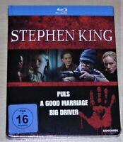 Stephen King Collection Uncut 3 Film Set blu ray IN Cofanetto Nuovo & Originale