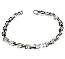 18k Solid White Gold Handmade Anchor Link Mens chain/Bracelet 8 32 grm 5.5MM