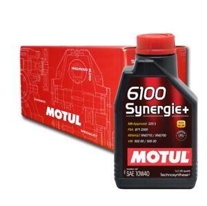 Olio Auto Motul 6100 Synergie+ 10W40 - 5x 1 lt