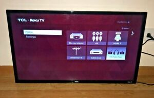 "32"" Inch LED HD TV TCL Flat Screen Smart Roku HDTV Wall Mountable HDMI"