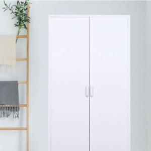 White Steel Double Door Wardrobe | Industrial | Modern
