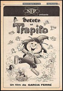 Petete et TRAPITO__Original 1980 Trade AD promo / poster__MANUEL GARCIA FERRE