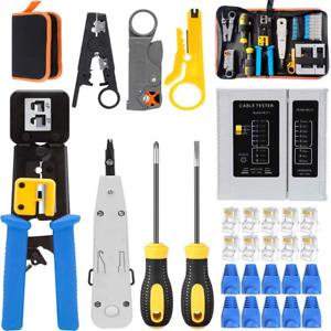 Cat6 Tool Pass Kit Rj45 Cat5e Through Cat5 Maylinee 8p8c Crimping Crimp Ethe Cri
