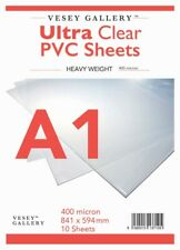 A1 Clear PVC / Heavy Acetate 10 Sheets 400 Micron 840x594mm - FREE DELIVERY