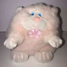 Vtg Gerber Precious Plush Pink Kitty Cat Stuffed Animal Toy Fat Round Kitten Htf