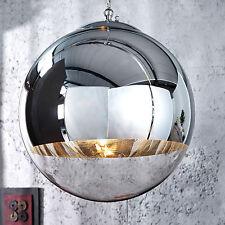 Hängelampe GLOBE 30cm Glas chrom Kugelleuchte Hängeleuchte Lampe Leuchte