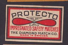 Ancienne  étiquette   Allumettes Suède   BN23733 Protecto